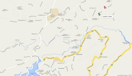 Location Map - Picture of Spring Valley Residency, Kodaik ... on