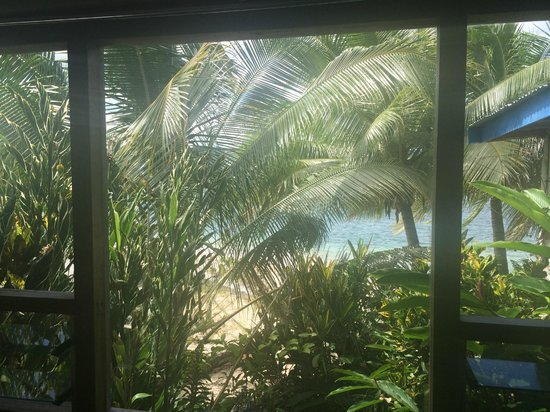 Hideaway Island Resort: View from loungeroom window