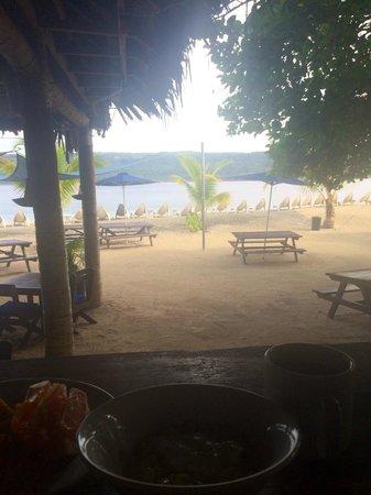 Hideaway Island Resort & Marine Sanctuary: view from breakfast bar