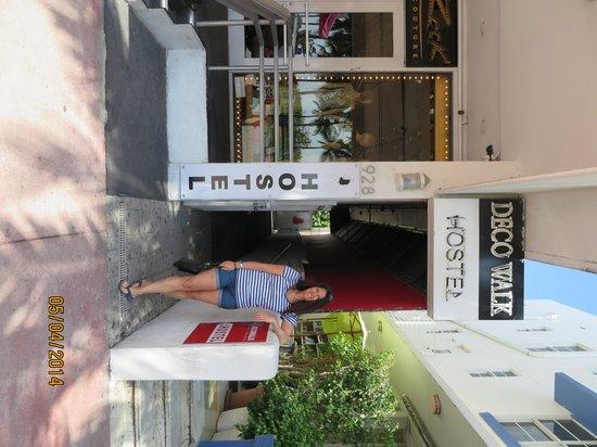 Ocean Blue Hostel: Entrance