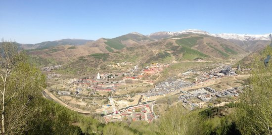 Wutai Shan (Five Terrace Mountain): View of one of the valleys from a peak