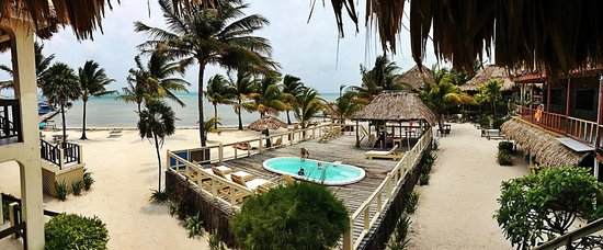 Exotic Caye Beach Resort: View from my room