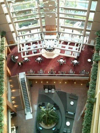 Grand Millennium Auckland: View of hotel foyer from the 9th floor