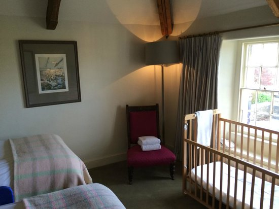 Woolley Grange: proper wooden cot for our baby