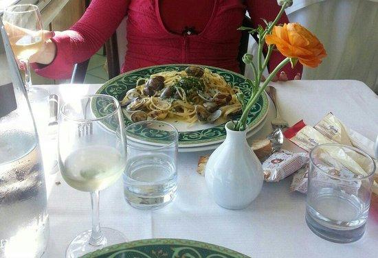 Villa Dei Principi Hotel: Spaghetti alle vongole.