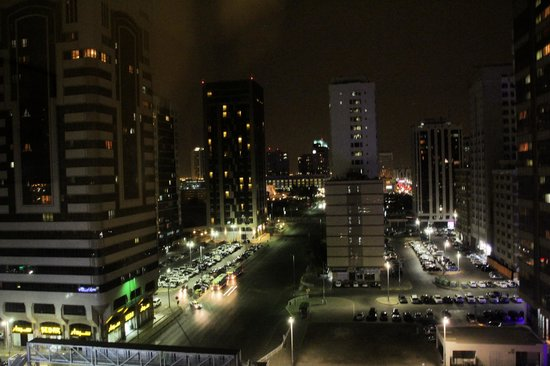 Vision Hotel Apartments: night view from room