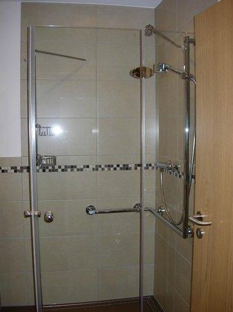 Hotel Wilhelmshöhe: Badkamer met douche