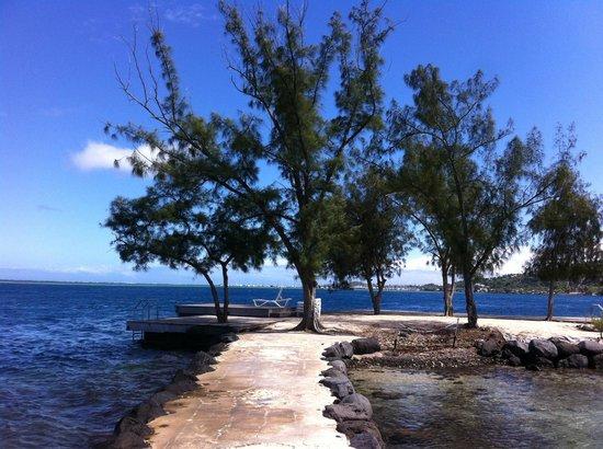 Manava Suite Resort Tahiti: terrasse lagon