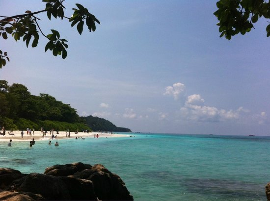Ko Tachai Island: View point at Tachai island.