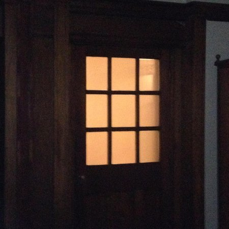The Palace Hotel: This was the view from the bedroom area light on from bathroom all the time no string on light p