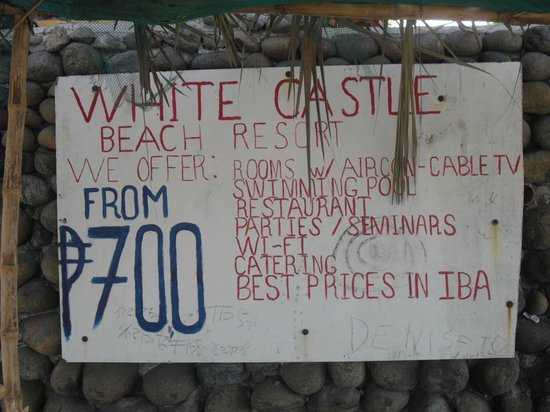 White Castle Beach Resort : Avoid online res. If you don't care about clean or comfort just show up
