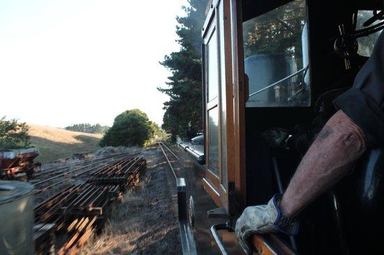 Glenbrook Vintage Railway: n the footplate