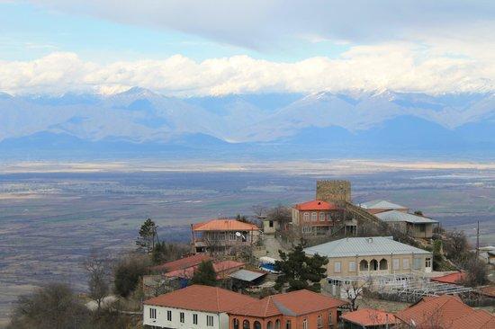 Signagi City Walls: Вид на горы со стены