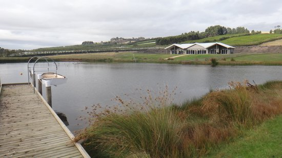 Relbia Lodge: The dam and the lodge