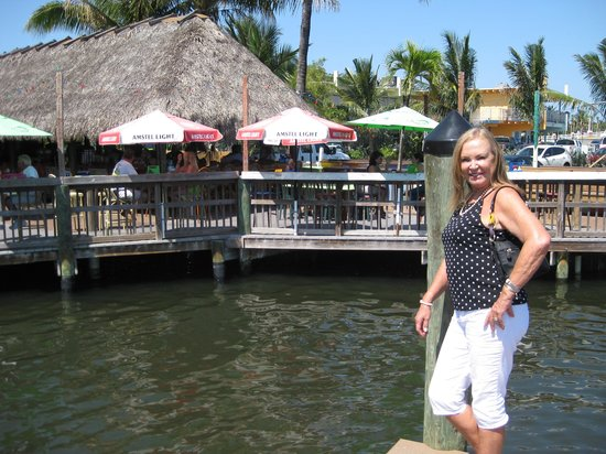 Old Key Lime House : My guest Anny, st the marina.