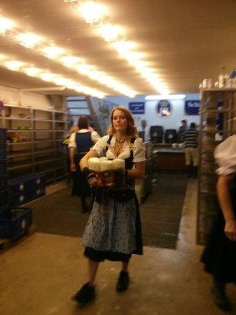 Theresienwiese: Oktoberfest 2013 mugs full of beer