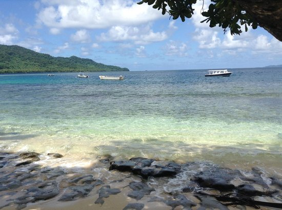 Qamea Resort And Spa Fiji: colour of ocean