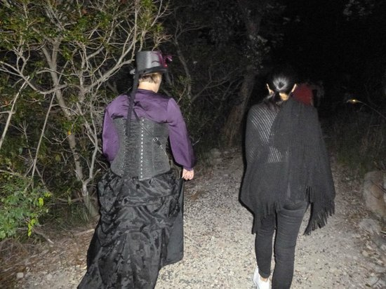 Manly Quarantine Station: The tour guide on the extreme ghost tour.