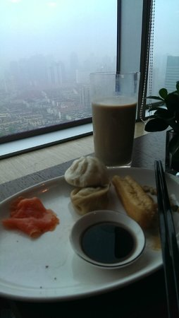 New World Shanghai Hotel: Lounge on the 38th Floor. Chinese Breakfast.