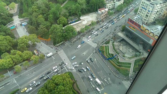 New World Shanghai Hotel: View from the top.