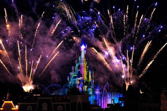 Disneyland Hotel : Le spectacle vue du balcon