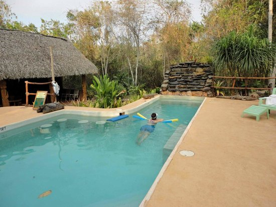 Mariposa Jungle Lodge: Lovely pool area- comfy lounges, shade