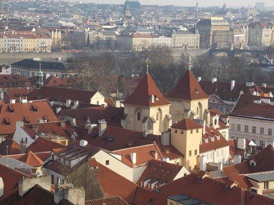 Église Saint-Nicolas de Malá Strana : вид с крыши