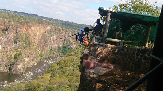 Zambezi Eco Adventures: Gorge swing - A rush of blood to the head!
