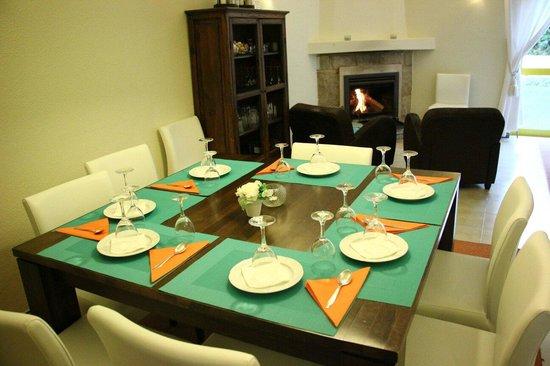 Vila Mimosa: The dining room