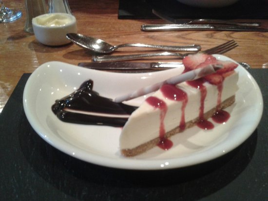Oban Bay Hotel: White Chocolate Cheesecake