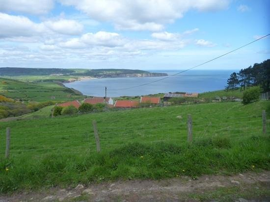 Scarborough to Whitby Rail Trail: Cinder Track looking towards Robin Hood' Bay
