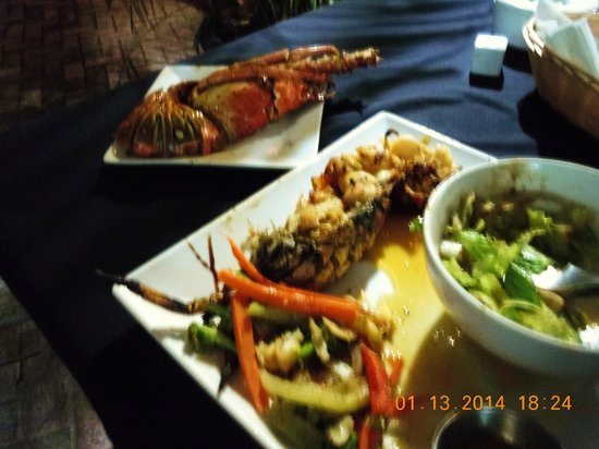 The Stone Restaurant: Caribbean Lobster Dinner