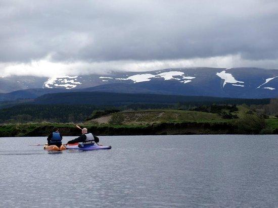 Loch Insh Watersports: Kayaking from Kingussie back to Loch Insh