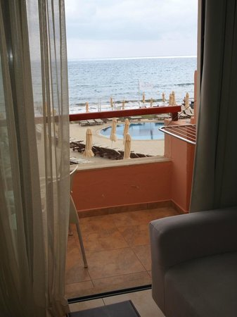 Kiani Beach Resort Family All Inclusive: balkon i widok na morze
