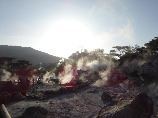 Unzen Jigoku Hell : 夕日の地獄谷