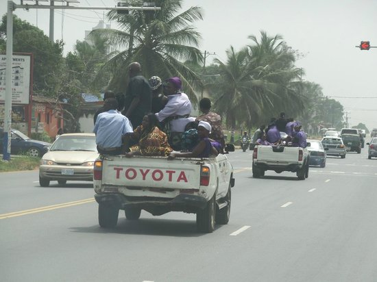 Ce Ce Beach: Monrovia, on their way to church