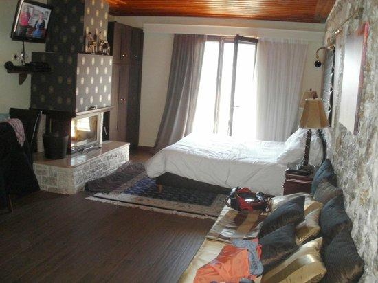 Archontopetra : Άνετα,ευρύχωρα,πεντακάθαρα δωμάτια με τζάκι..απλά τέλεια για την πολύ συμφέρουσα τιμή τους!