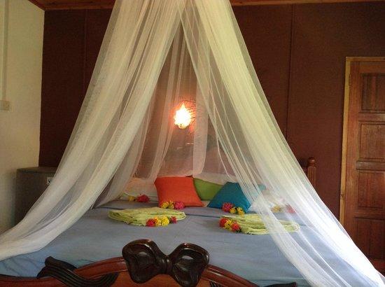 Bamboo Chalets: chambre