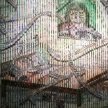 Musée Kiasma d'art contemporain (Nykytaiteen Museo) : отличная техника мазков!