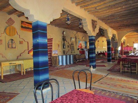 Kasbah Sable D'or: de centrale ruimte, tevens eetzaal