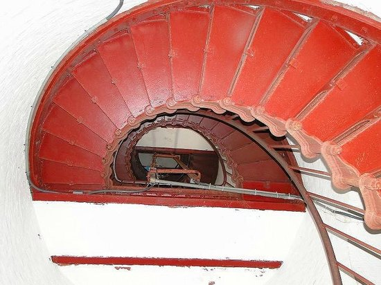 Cape Hatteras Lighthouse: looking down steps