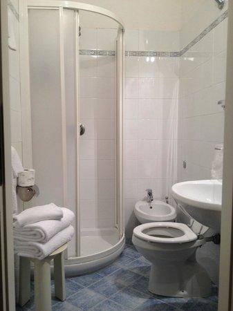 Hotel Vasari Palace: Banho super bom. Box pequeno para quem mora em mansão no Brasil