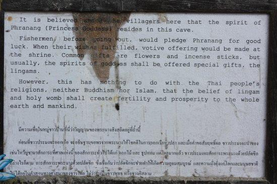 Phra Nang Cave: descrizione dell'attrazione