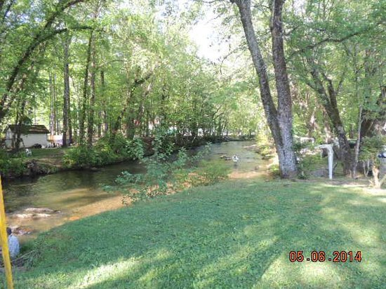 Riverbend Motel & Cabins: Chattahoocee River