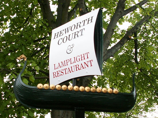 Heworth Court Hotel: Front Sign