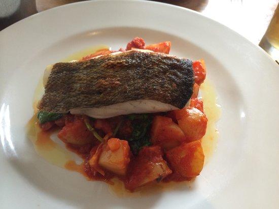 The Fishbourne: Pan fried cod and chorizo