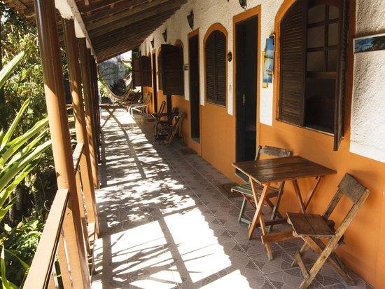 Pousada Albatroz: Main house terrace balcony