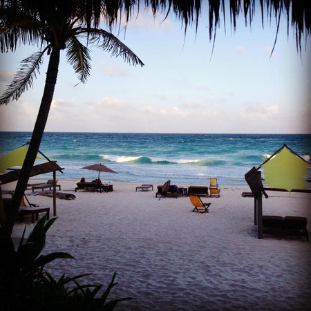 Ahau Tulum: View from our deck at sunset - does it get any better?