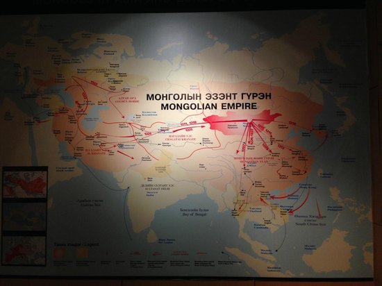 National History Museum: The reach of the mighty mongolian empire at it's peak