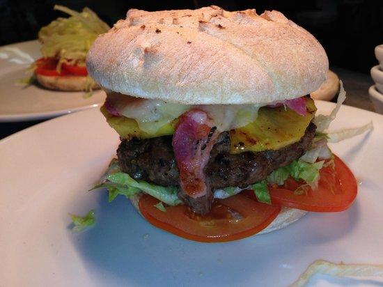 The Crown Inn Weybread: Home Made Ground Steak Burger with Sour Dough Bun